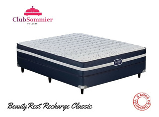 Sommier Simmons Beautyrest Recharge Classic 200x200 (2box)
