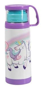 Squeeze Termica Com Caneca 350ml - Unicornio