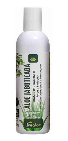 Shampoo E Sabonete Natural Aloe Jabuticaba Livealoe - 240ml