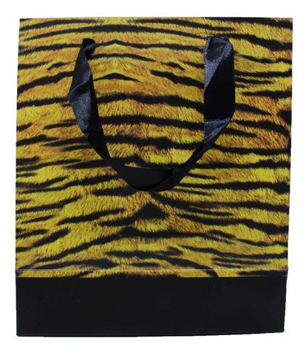 Sacola Animal Print Tigre - 43x33 Cm - 12 Unidades