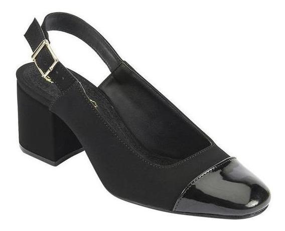 Zapatilla Formal Color Negro Para Dama Mundo Terra 022379