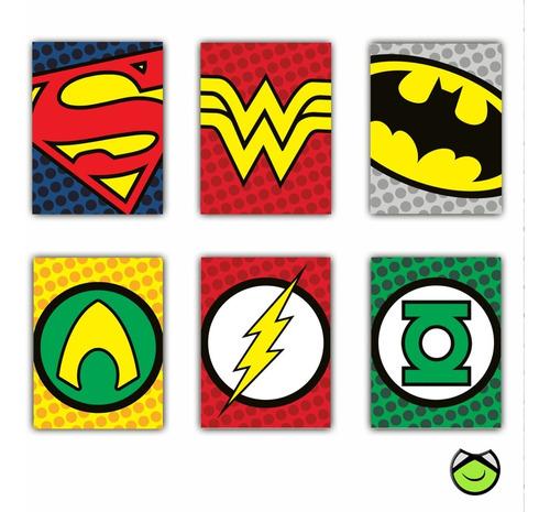 Retablos Mdf Superheroes X 6 + Envio Gratis
