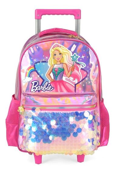 Mochila Rodinha + Lancheira Barbie Fada Dreamtopia Luxcel