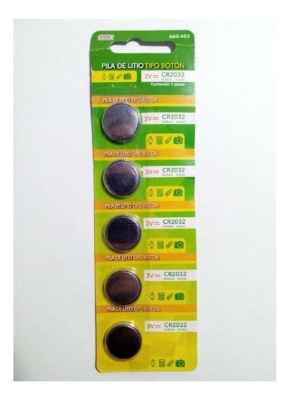 Paquete De 5 Pz Pila Bateria Boton 3v Cr2032 - T2005