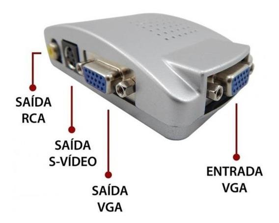 Conversor Pctv - Vga Para Rca / Svideo - Sinal De Vga P/ Tv