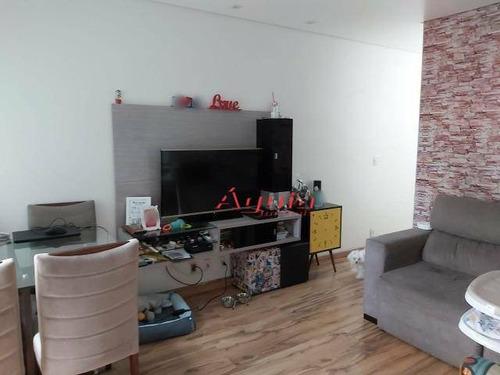 Apartamento Com 3 Dormitórios À Venda, 90 M² Por R$ 395.000,00 - Vila Alpina - Santo André/sp - Ap2052
