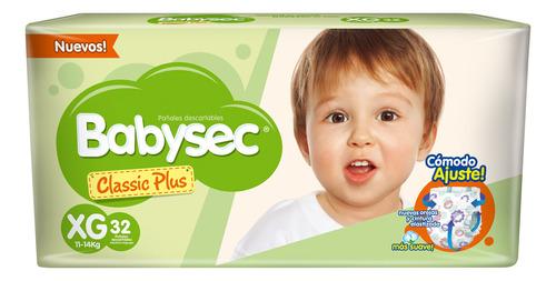 Pañalesbabysec Classic Plus Xg X32 - Bebés Y Niños