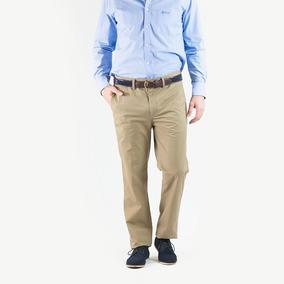 Pantalon Hombre Charly C/cinto De Regalo Tostado Oxford Polo