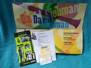 Ingresso Convite Folder David Liebman & Jazz Sinfônica