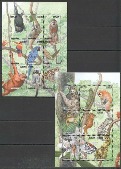 1998 Animales Salvajes- Felinos- Aves- Madagascar Mnh