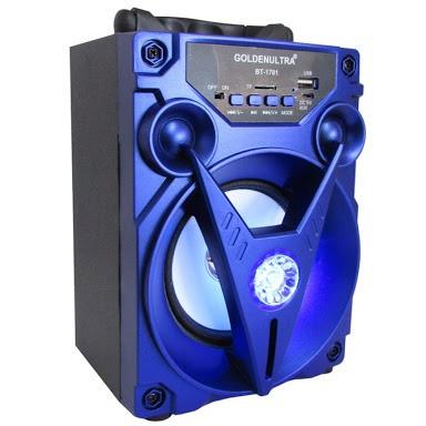 Caixa De Som Portátil Bluetooth Azul. Golden Bt-1702
