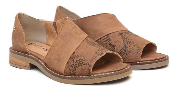 Zapatos Mujer Cuero Bajos Abiertos Heyas Hitana