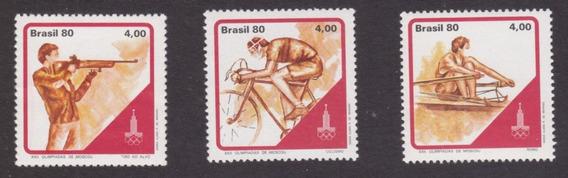 Brasil 1980 Deportes Juegos Olimpicos Serie Completa Mint