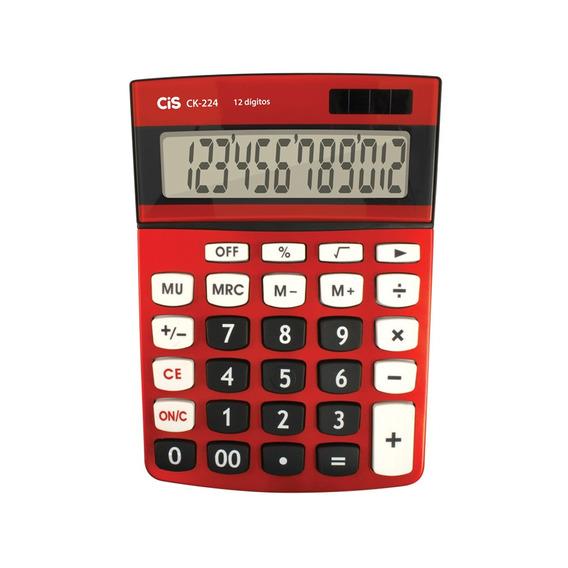 Calculadora De Mesa 12 Digitos Ck-224 Vermelha Cis