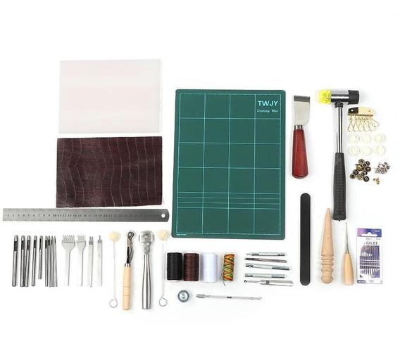 Herramientas De Costura Para Artesanía En Cuero, 61 Piezas,