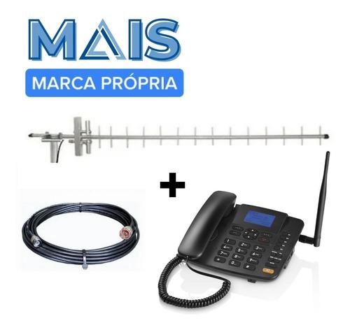 Imagem 1 de 4 de Kit Telefone Rural Celular Desbloqueado Com Gprs - Completo!