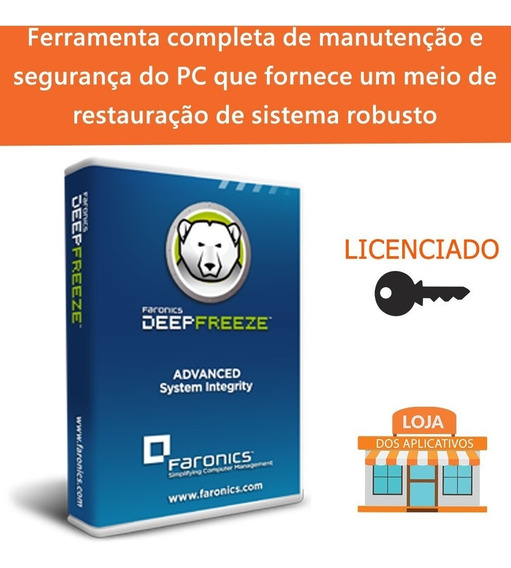 Deep Freeze Standard/recupere Seu Sistema/proteja O Sistema