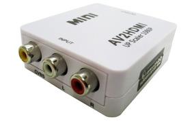 Conversor Av Para Hdmi Adaptador 3 Rca Audio Video Av Tv Box