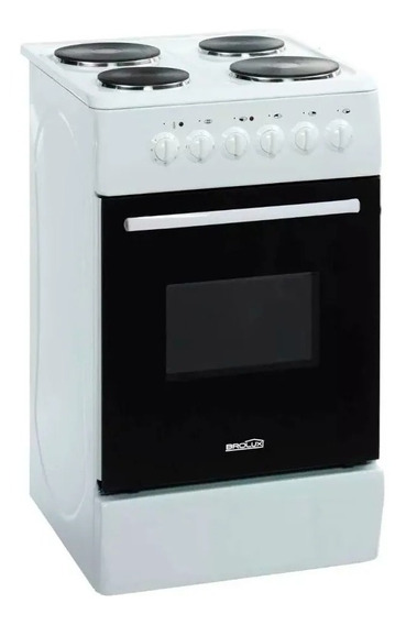 Cocina Electrica 4 Hornallas Horno Brogas 50cm