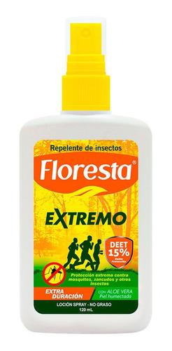 Imagen 1 de 1 de Repelente Floresta Extremo Locion 15% Deet 120 Ml