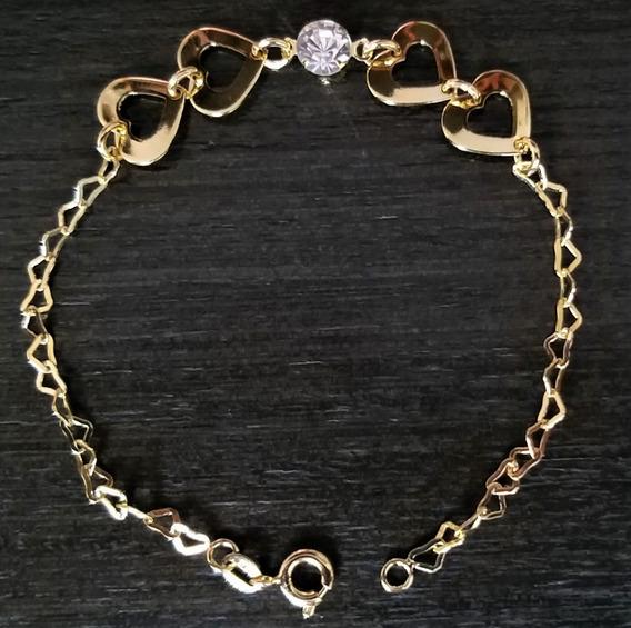 Bracelete Pulseira Feminina Banho Ouro 18k R.275