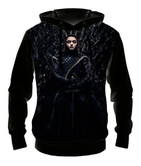 Blusa Moletom Game Of Thrones 8ª Arya Stark, Casaco De Frio