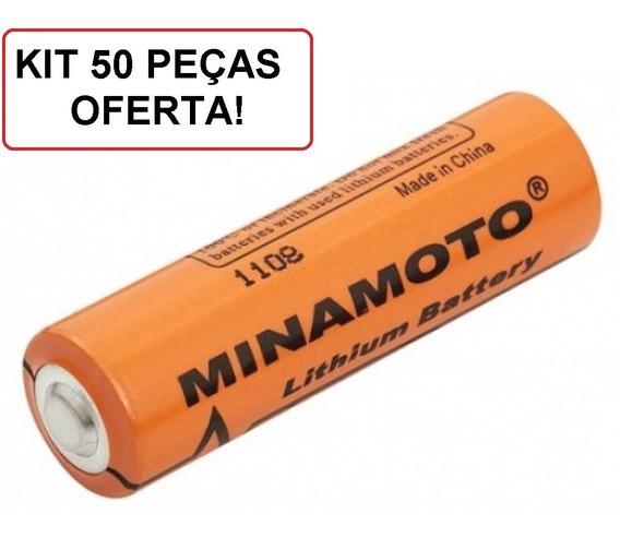 Bateria Er14505 Minamoto 3,6v Aa - Kit 50 Unidades Lithium