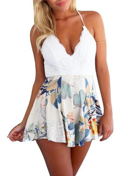 Jumper Dama Corte De Tirantes Escote Espalda Mini Vestido