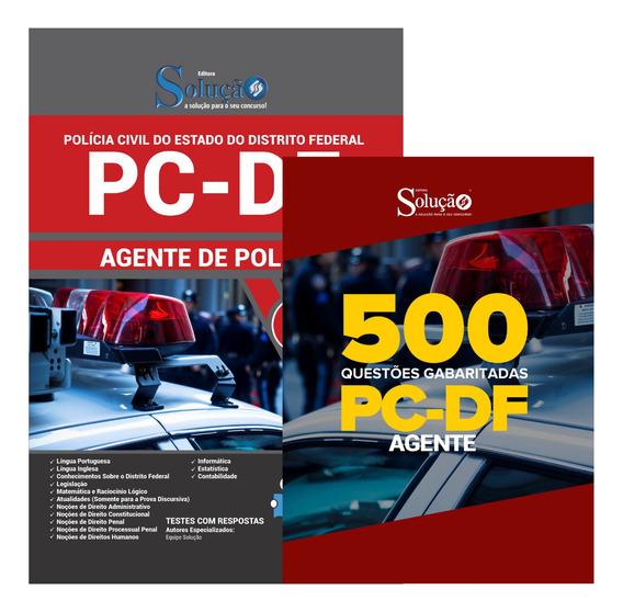 Apostila Agente De Polícia Pc-df + 500 Questões Livro