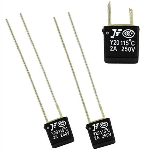 Fusible Térmico Y20- 115°c- 250v- 2a-ventiladores- Pack 2 Ud