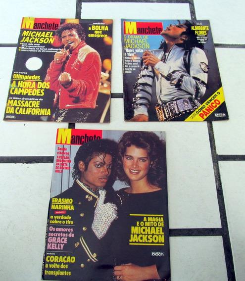 Lote 4 Revista Zeradas Manchete Michael Jackson Nas Capas E