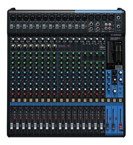 Mesa De Som Yamaha Mg20xu 20 Canais Com Efeito +usb + Garantia + Nota Fiscal + Frete Grátis