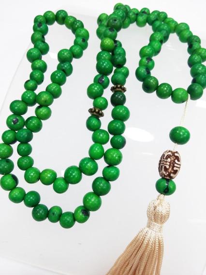 Colar Japamala 108 Sementes De Açaí Hoponopono Buda