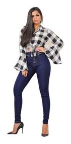 Calça Jeans Com Elastano Modelo Levanta Bumbum 36 Ao 44