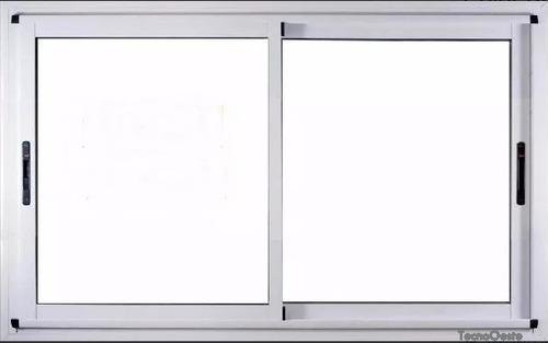 Ventana Modena Aluminio Blanco 150x110 C/vidrios Tecnooeste