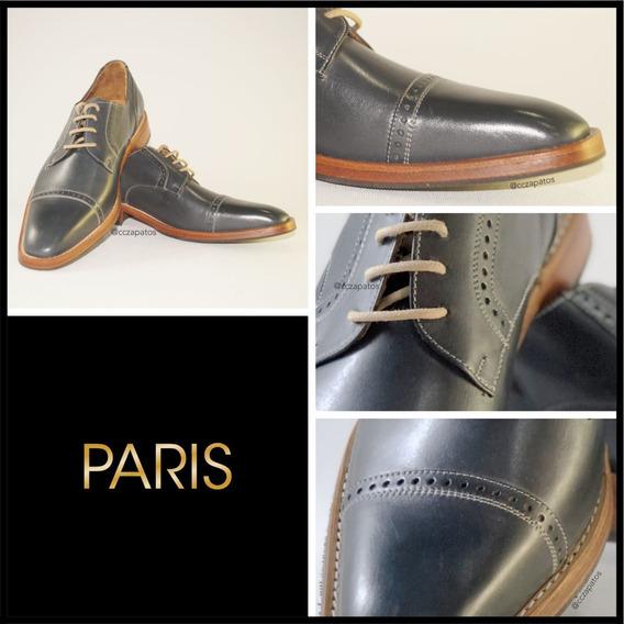 Zapato Cuero Hombre - Modelo Paris - Diseños Exclusivos
