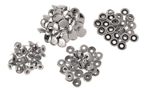 Imagen 1 de 12 de 50 Sets Botones A Presión Metal Remache De Costura