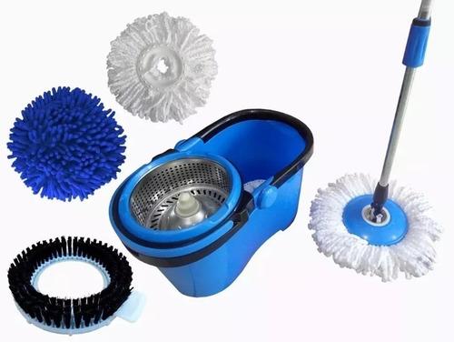 Balde Perfect Mop 360º Com 3 Refis Mop Limpeza