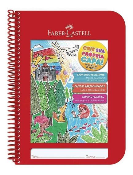 Caderno Faber Castell Criativo 1x1 Capa Plastica 96fls