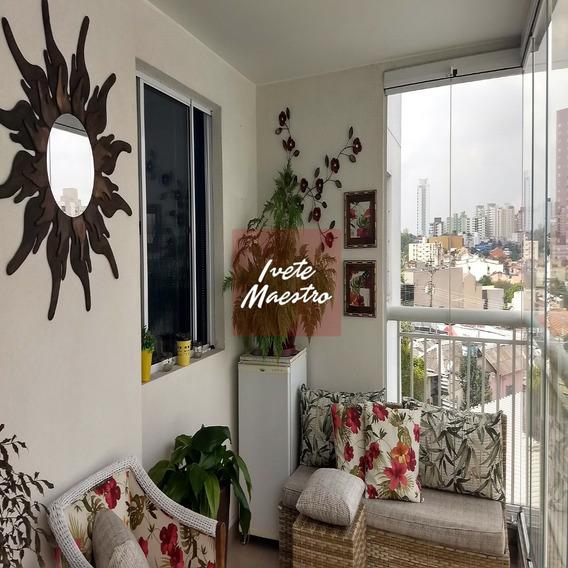 Apto - Venda. 93m2, 3 Dorm, 2 Banheiros, Santo André, Sp.