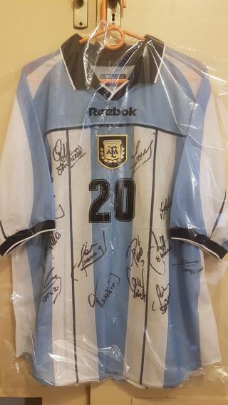 Camiseta Seleccion Argentina Reebok Tela Calada Gallardo