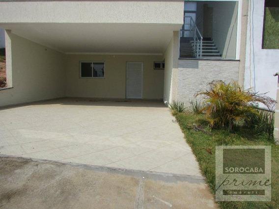 Assobradado À Venda, Wanel Ville, Condomínio Villagio Millano Em Sorocaba-sp, 3 Suítes, Área Construída 180m². - So0045