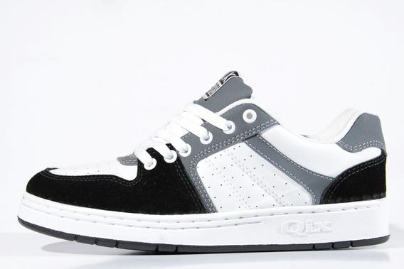 Tênis Qix 80s Chumbo/branco/preto