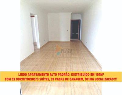 Apartamento Com 3 Dormitórios Para Alugar, 104 M² Por R$ 2.850/mês - Canto Do Forte - Praia Grande/sp - Ap9776