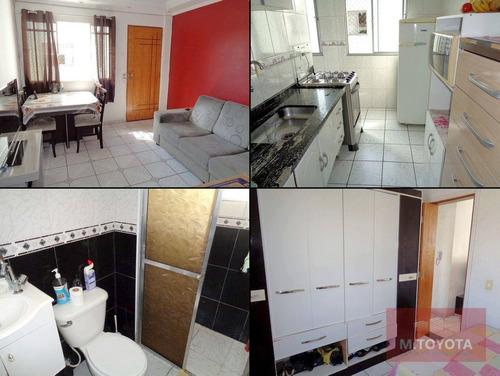 Apartamento Com 2 Dormitórios À Venda, 50 M² Por R$ 220.000,00 - Vila Rio De Janeiro - Guarulhos/sp - Ap0090