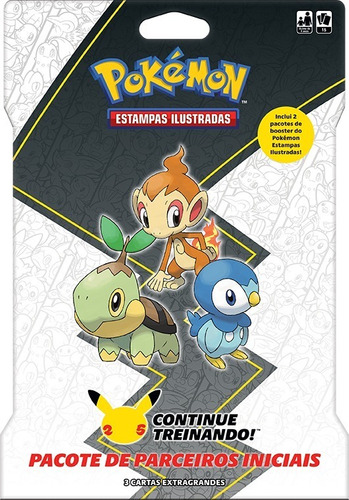 Imagem 1 de 3 de Card Game Pokémon Booster Blister Gigante Parceiros Sinnoh