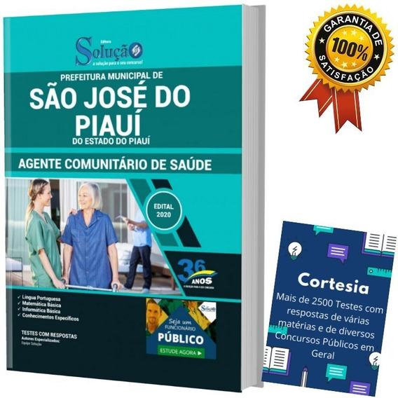 Apostila Agente Comunitário De Saúde São José Do Piauí Pi