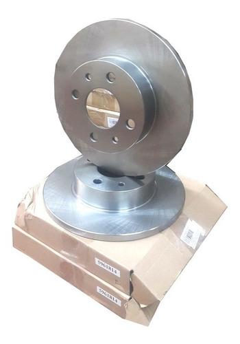 Imagen 1 de 1 de Jgo X2 Discos De Freno Fiat Siena 96/99