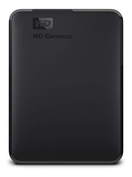 Disco rígido externo Western Digital Elements Portable WDBU6Y0040BBK 4TB preto