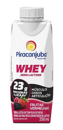 Piracanjuba Whey Zero Lactose Pronto Frutas Vermelhas 250ml